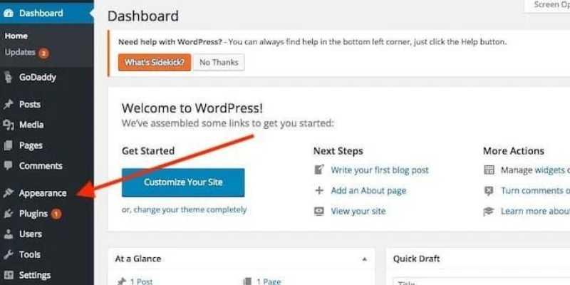 how-to-start-a-blog-wordpress-dashboard